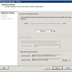 Настройка параметров репликации